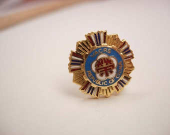 Items Similar To Vintage Nra Enamel Tie Tac Lapel Pin Red