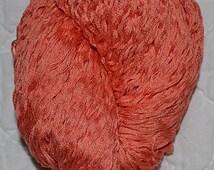 Pure Mercerized Cotton Yarn Reclaimed Yarn Coral / Orange