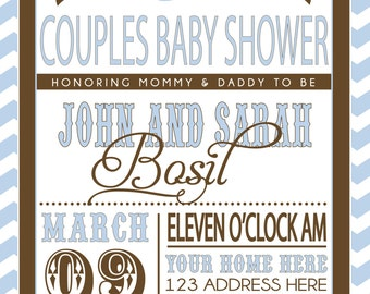 Couples Baby Shower invitation ON SALE!