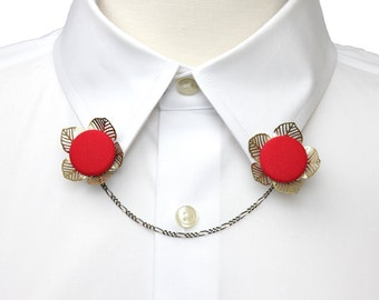 Flower Collar Clip / Sweater Clip - 32 Color Options