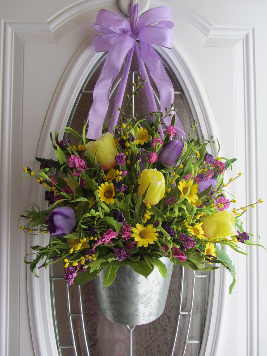 Spring Wreath Easter Wreath Tulip Wreath Decor Spring