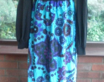 Vintage 1970 maxi dress evening prom party costume collectors dress