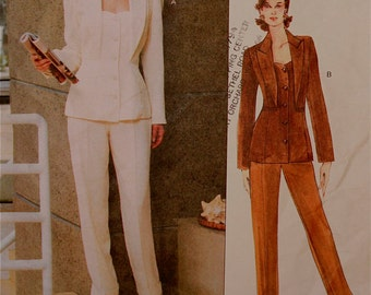 Jacket & Pants by Montana - 1990's - Vogue Paris Original Pattern 1885   Size 12 Only  Bust 34""