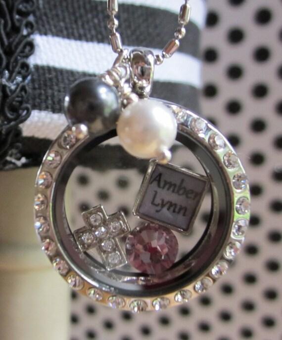 Floating charm locket with name charm-Dangle Jangle Designs