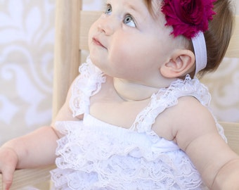 Berry Shabby Headband Shabby chic Headband Baby headband rhinestone newborn headband flower headband baby girl headband