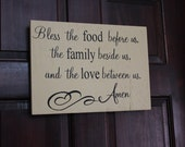 Bless the Food Before Us The Family Beside Us and the Love Between Us Amen
