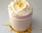 Lemon Cake Batter Whipped Shea Butter 8 oz. Rich Moisturizer Lotion, Lemon Zest, Sweet Cake with Shea Butter and Coconut Oil