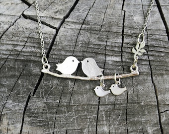 Family Love Bird Necklace