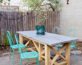 Recycl e table de cuisine en bois palette et grange - Table de cuisine en palette ...