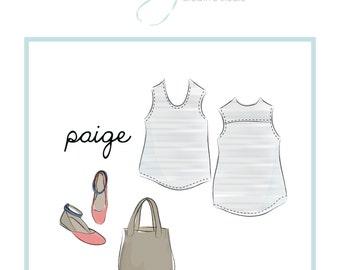 easy tank top pattern: Paige basic tank pattern, PDF