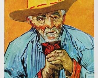 "1952 Vincent van Gogh ""Old Peasant"" 1888 reproduction print"