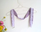 Crochet lilac belt,Lilac belt with lilac lace.Women accessories, violet belt, fashion design, ready to shipping.