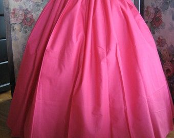 long HOT PINK Pirate Civil War SKIRT - Witch Renaissance Peasant Pioneer Steampunk Colonial - one size fits all - blacklilycat