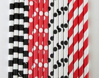 25 Pirate paper straw mix birthday party event cake pop sticks bonus diy flags
