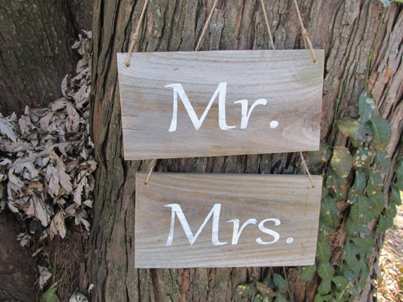 Mr. & Mrs. Rustic Personalized-handmade  wedding signs  made from reclaimed wood
