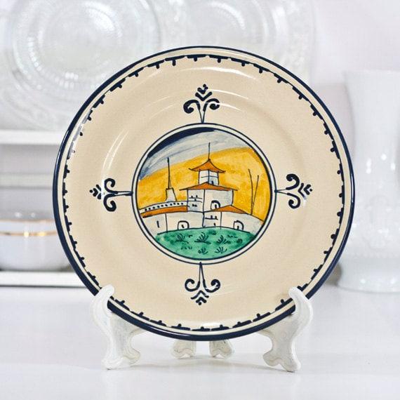 Decorative Wall Plates Italian : Italy majolica plate italian decorative wall hanging