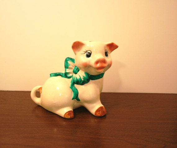 Large Piggy Bank Break To Open Ceramic