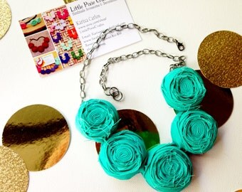 Turquoise Rosette Necklace