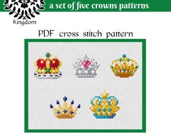Crowns - Cross Stitch pattern- PDF