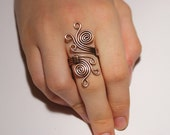 Wire wrapped ring, copper ring, wire wrapped jewelry handmade, copper wire jewelry,  copper jewelry, boho ring