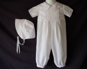 Baby Reborn/Boy Christening Gown/ Baptism Outfit Romper Size NB 3 6 12 Months