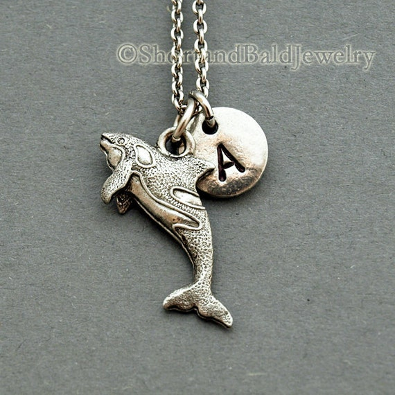 killer whale charm necklace orca whale by shortandbaldjewelry