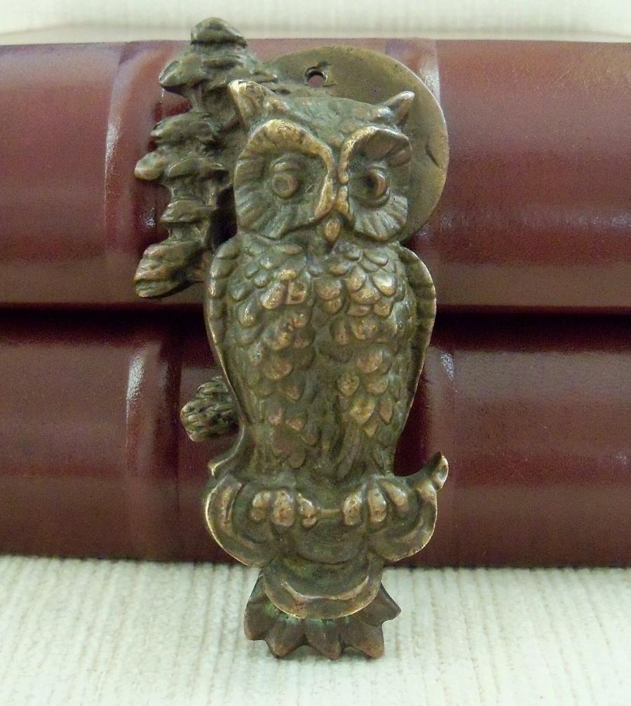 Antique brass owl door knocker - Antique brass door knocker ...