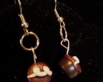 Hostess Chocolate Cupcake Earrings