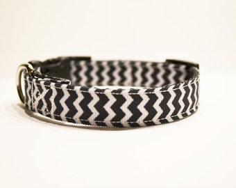 Personalized - Chevron Dog Collar - Made to order