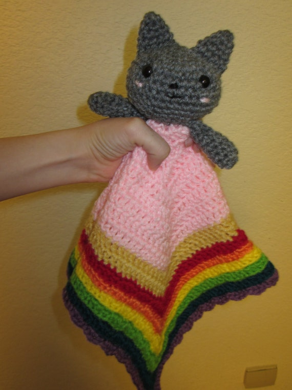 Nyan Cat Lovey Crochet Pattern Download by CraftSauce on Etsy