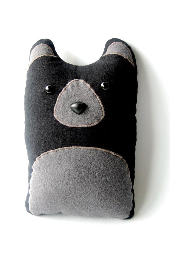 Black Bear Woodland Plush Stuffed Animal Pillow Winston