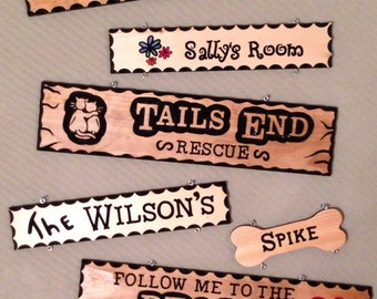 Handmade Routed Wooden Signs