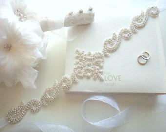 Crystal Bridal Sash Belt, Crystal Bridal Belt Sash, Rhinestone Bridal Belt