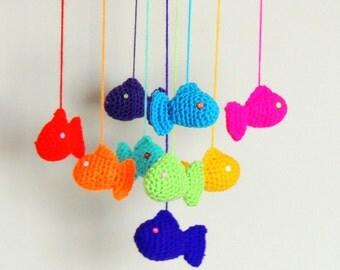 Crochet Mobile Fish Baby Mobile