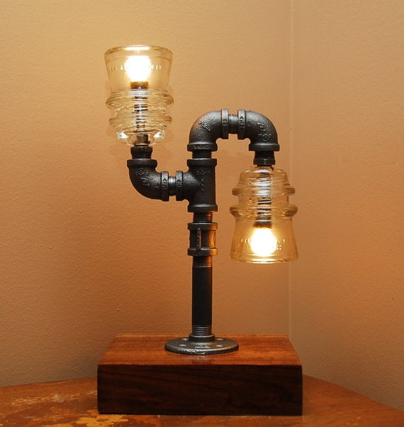 Industrial Style Pipe Lamp With Clear