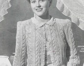 1940s Vintage Knitting Patterns - PDF Copy of Sun-glo Knitting Booklet Series 61