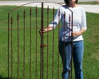 """66"""" tall Double Opening Gate 43"""" wide and Works with Our 5' tall Wrought Iron Fence"""