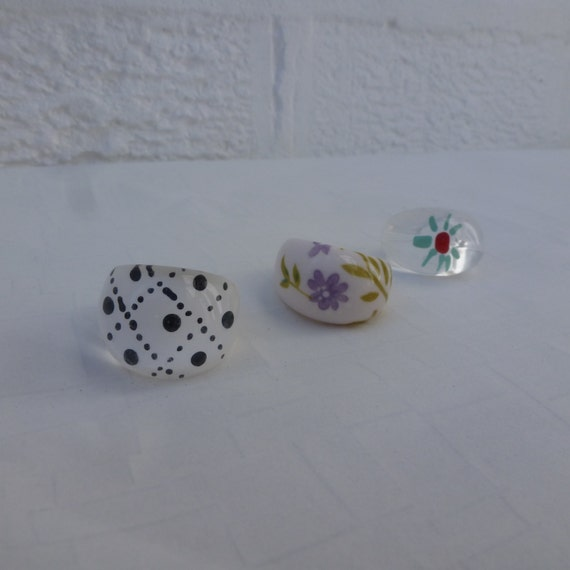 rings vintage plastic rings jewelry womans by