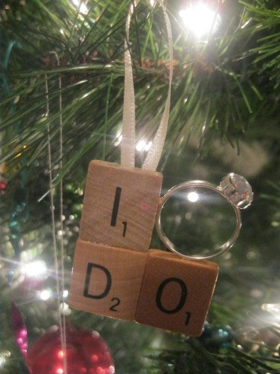 Scrabble Tile I Do Engagement Ring Christmas