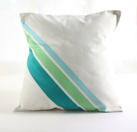 How To Make A Decorative Pillow By Hand : 18x18 PILLOW COVER Decorative Pillow hand