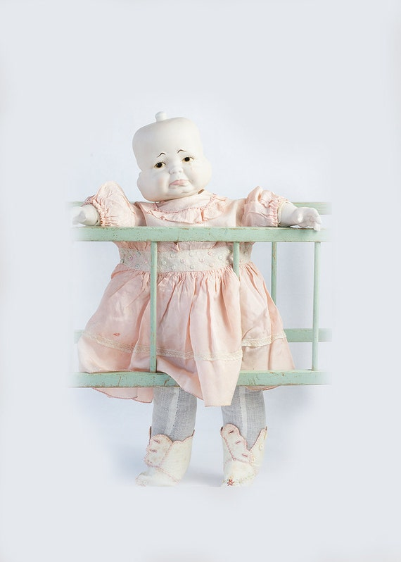 Vintage 3 spinning faces porcelain doll