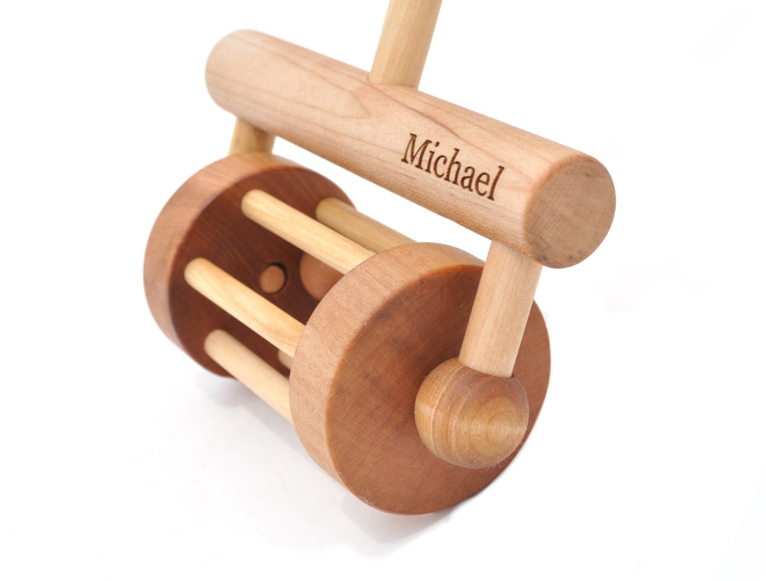 Push And Pull Toys : Personalized push toy and pull rattle wooden for