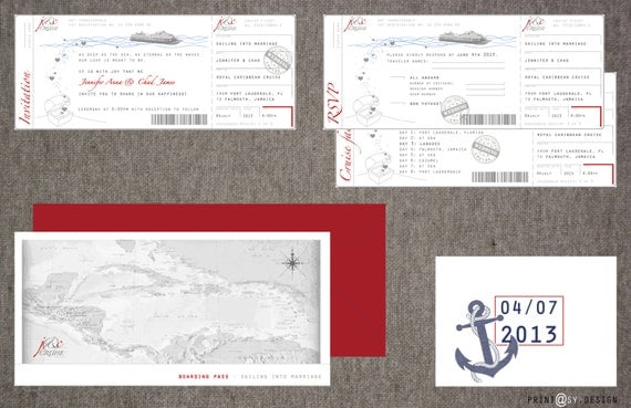 Cruise Wedding Invitation Wording Examples: Items Similar To Wedding Invitation