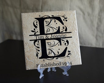 12x12 Personalized Name Tiles With Easel