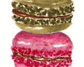 Macaroons  - Original ACEO watercolor painting
