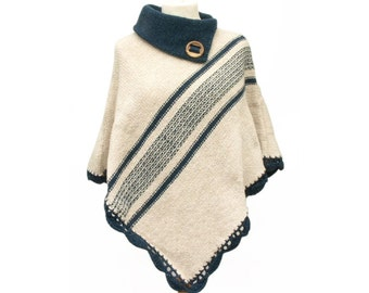 Women handmade woollen ponchos