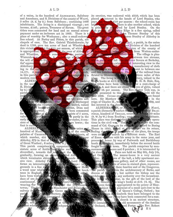 Dalmatian Dictionary Print, Art Print, Wall Art, Wall Decor, Wall Hanging, Dog Picture, Dog Painting