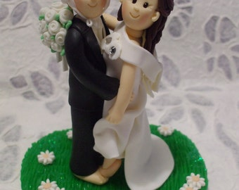 Custom handmade sports wedding cake topper