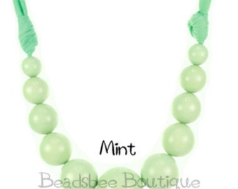 Beautiful Mint Necklace, Mint Beaded Necklace, Mint Statement Necklace