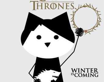 Game of Thrones, sticker 3.9 x 3.9 in